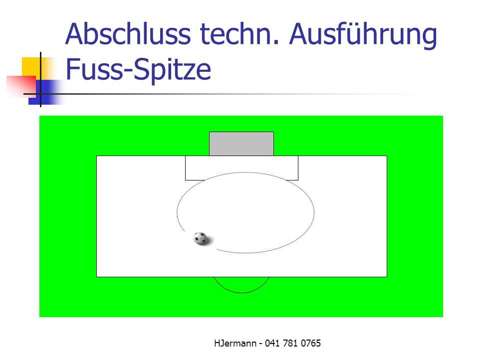 Abschluss techn. Ausführung Fuss-Spitze