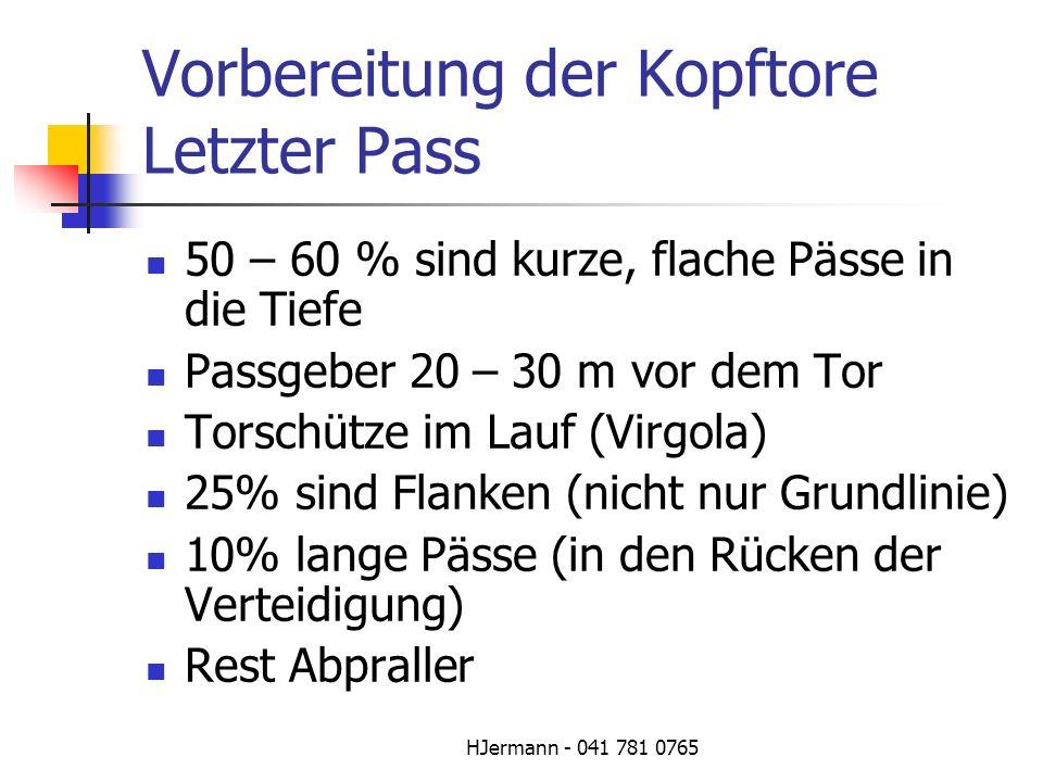 Vorbereitung der Kopftore Letzter Pass