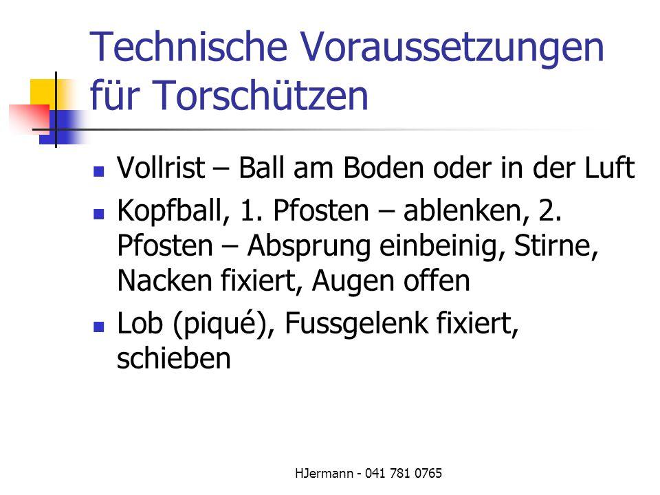 Technische Voraussetzungen für Torschützen