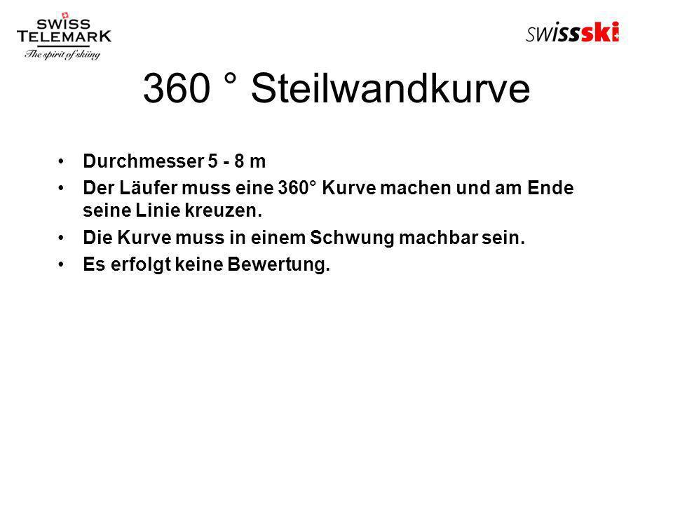 360 ° Steilwandkurve Durchmesser 5 - 8 m