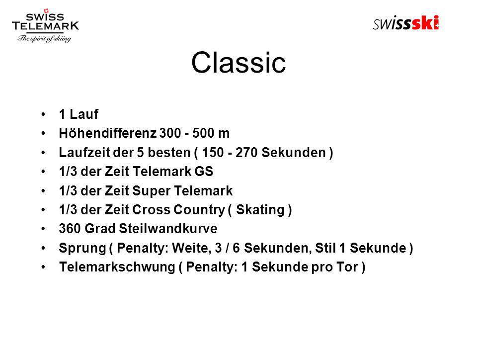 Classic 1 Lauf Höhendifferenz 300 - 500 m