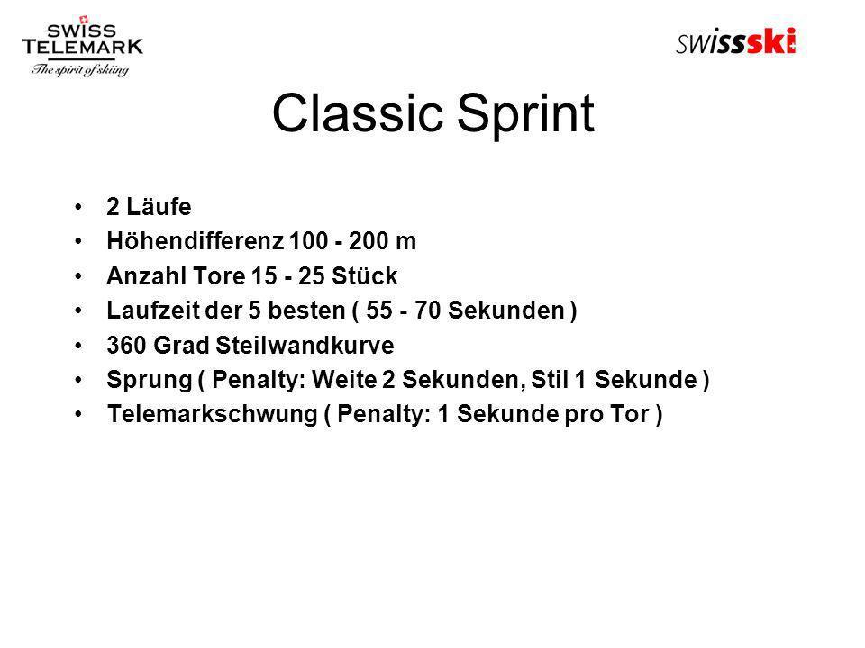 Classic Sprint 2 Läufe Höhendifferenz 100 - 200 m