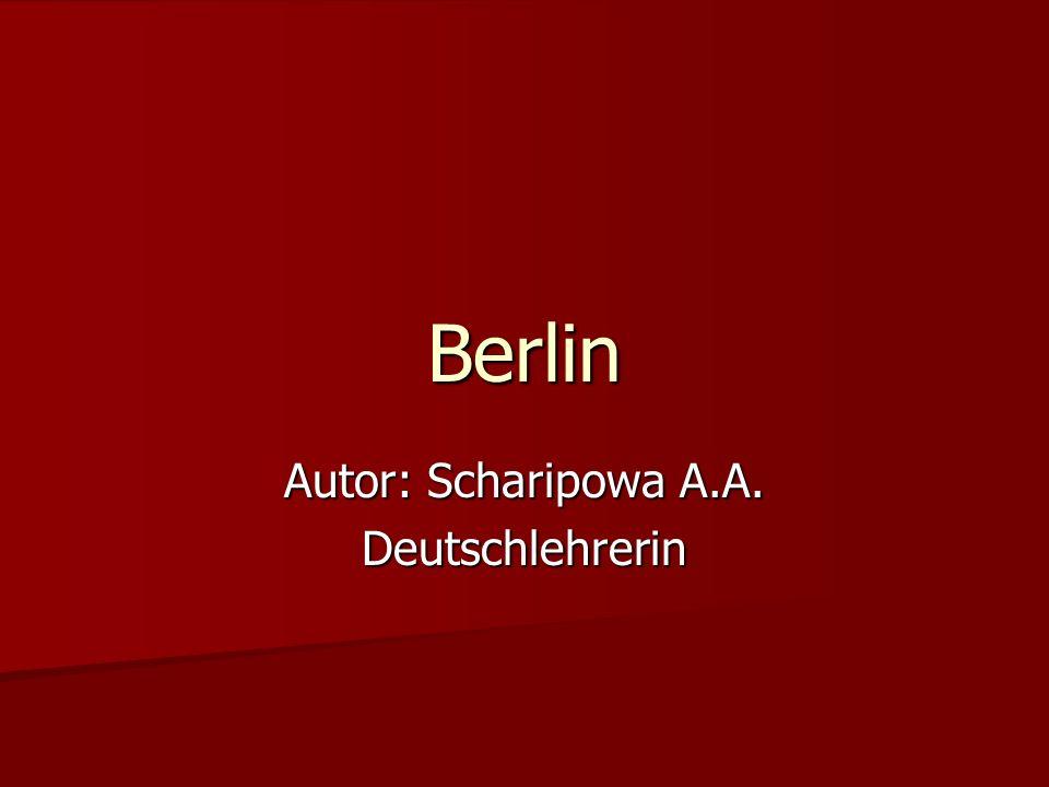 Autor: Scharipowa A.A. Deutschlehrerin