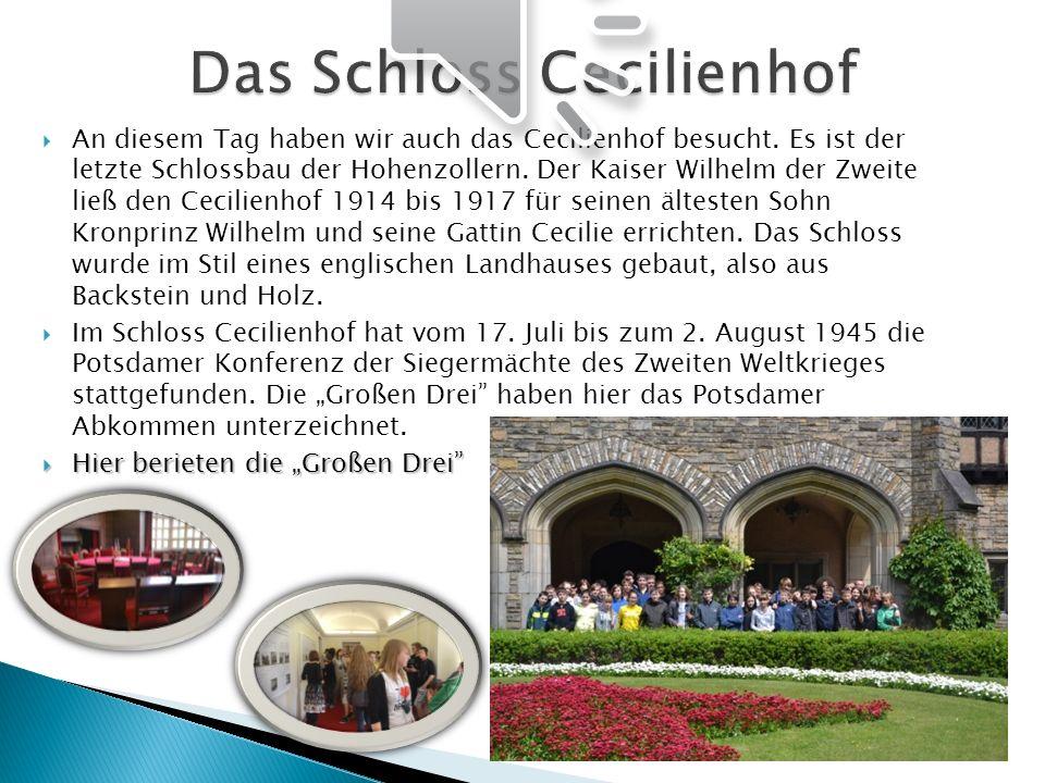 Das Schloss Cecilienhof