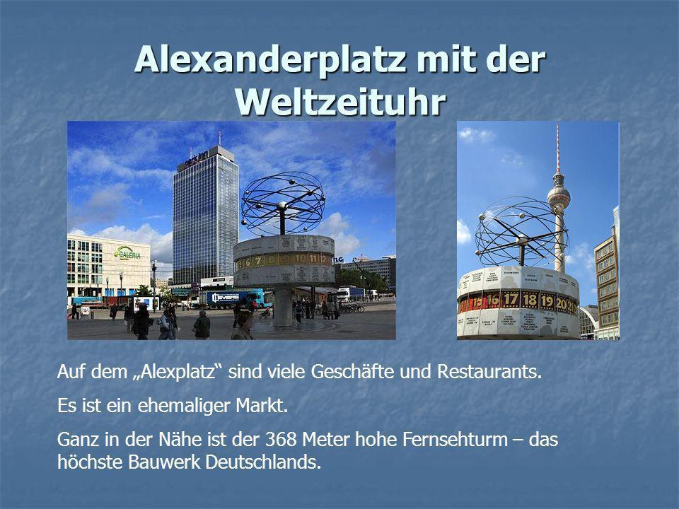 Alexanderplatz mit der Weltzeituhr