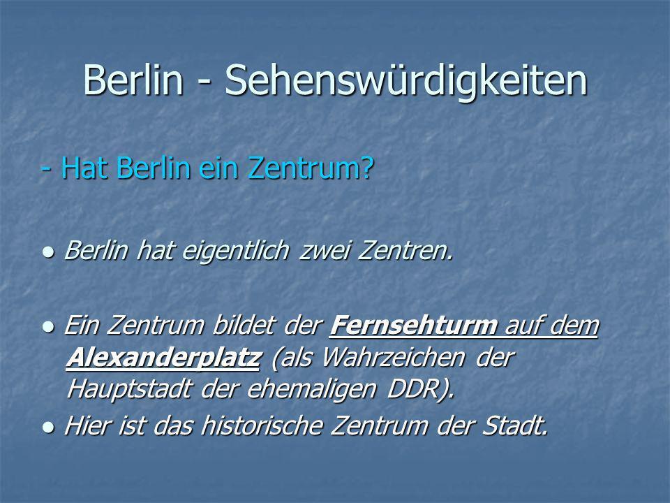 Berlin - Sehenswürdigkeiten