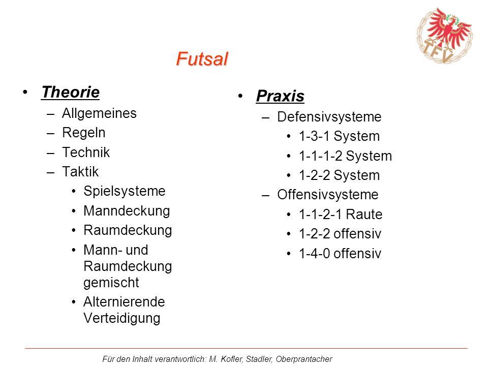 Futsal Theorie Praxis Allgemeines Defensivsysteme Regeln 1-3-1 System