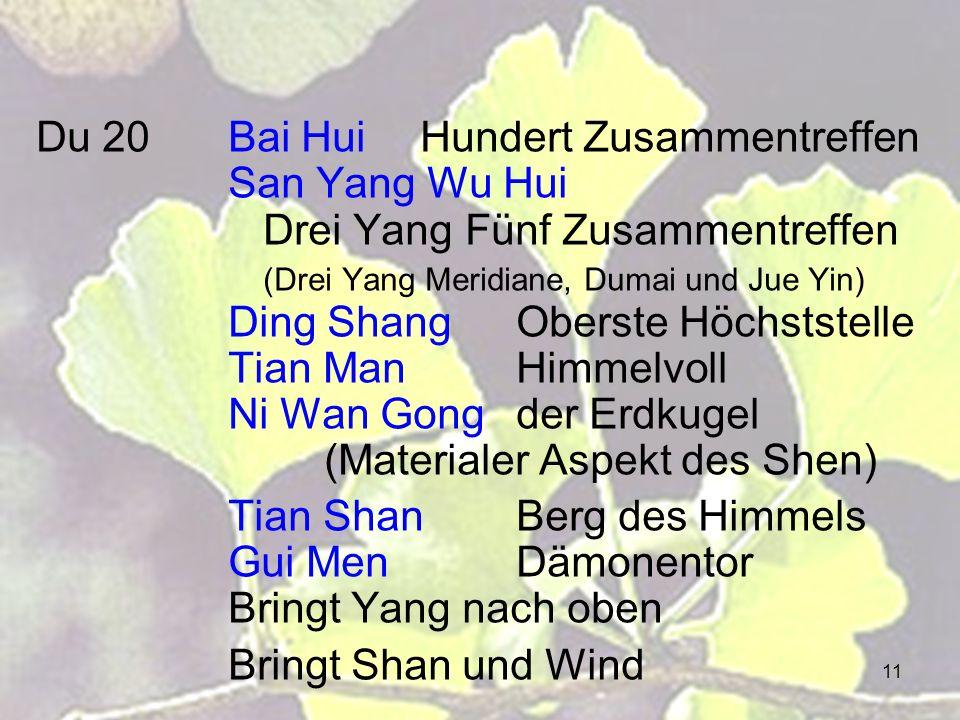 Du 20. Bai Hui. Hundert Zusammentreffen. San Yang Wu Hui