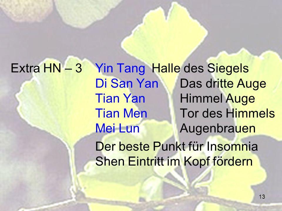 Extra HN – 3. Yin Tang. Halle des Siegels. Di San Yan. Das dritte Auge