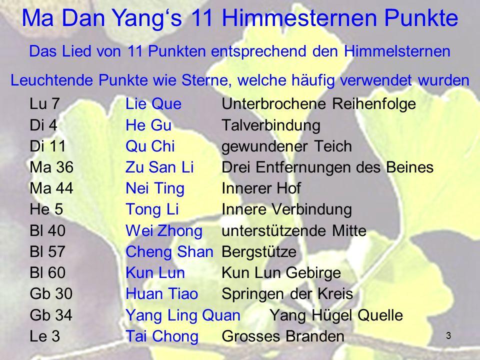 Ma Dan Yang's 11 Himmesternen Punkte