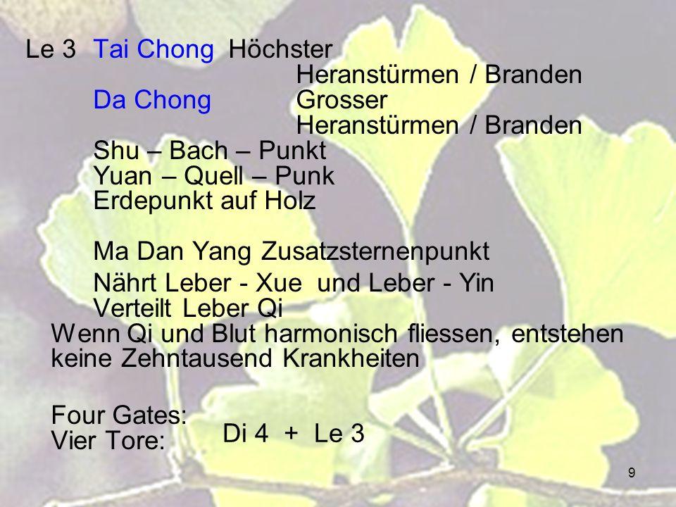 Le 3. Tai Chong. Höchster. Heranstürmen / Branden. Da Chong. Grosser