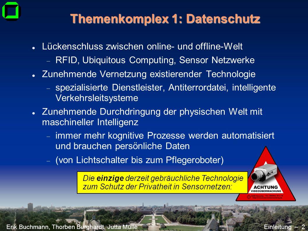 Themenkomplex 1: Datenschutz