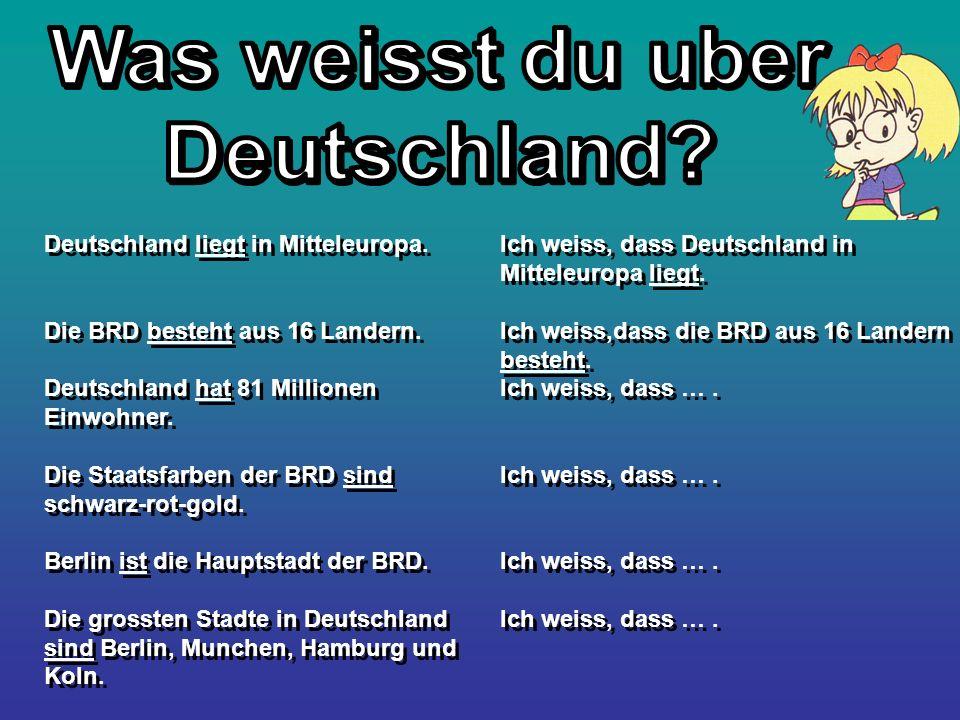 Was weisst du uber Deutschland