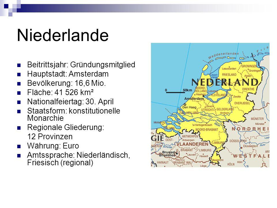 Niederlande Beitrittsjahr: Gründungsmitglied Hauptstadt: Amsterdam