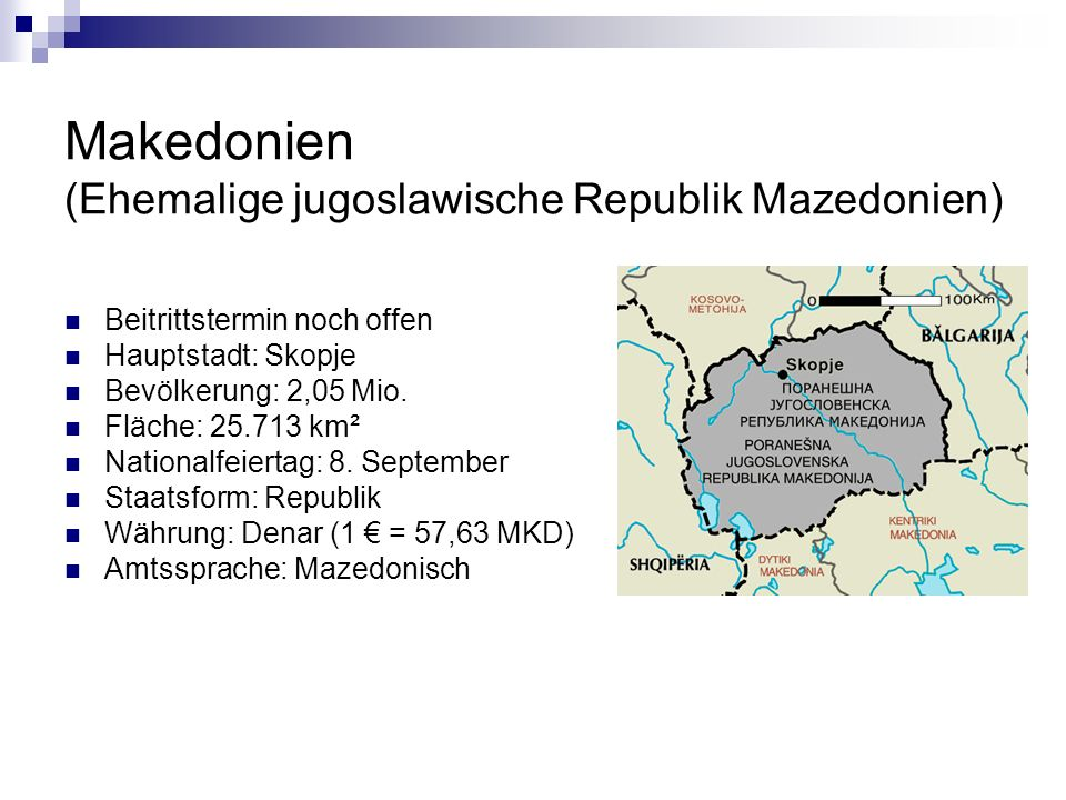 Makedonien (Ehemalige jugoslawische Republik Mazedonien)