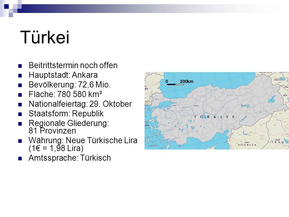 Türkei Beitrittstermin noch offen Hauptstadt: Ankara
