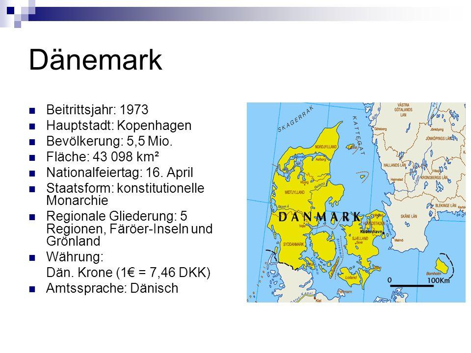 Dänemark Beitrittsjahr: 1973 Hauptstadt: Kopenhagen