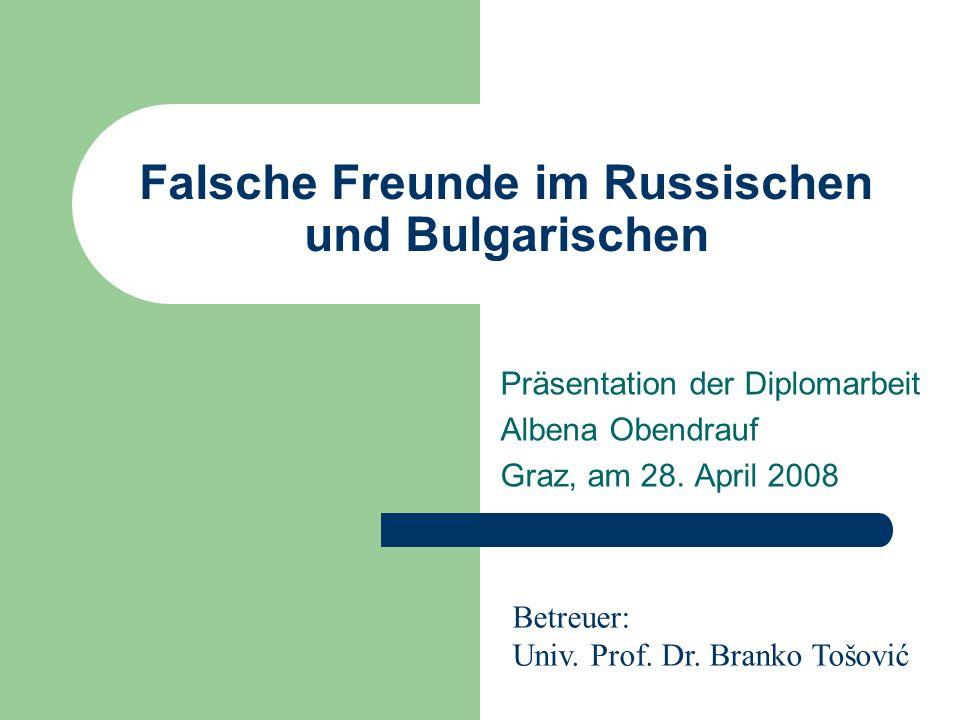 Falsche Freunde im Russischen und Bulgarischen