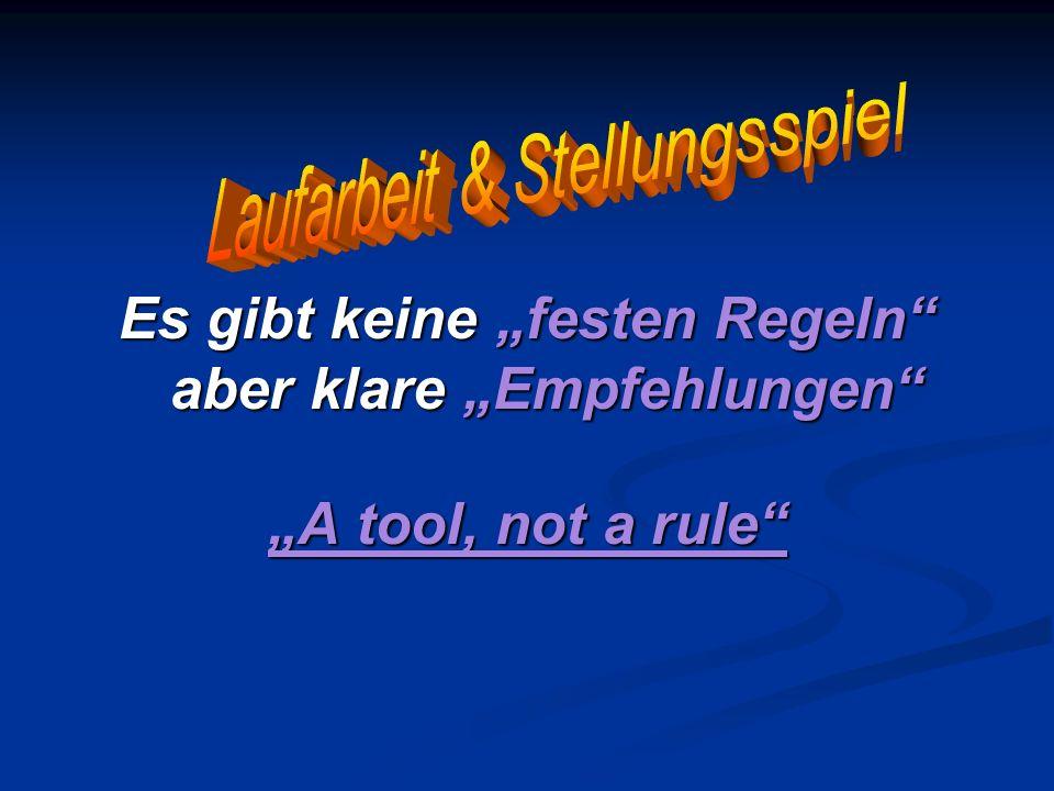 """Es gibt keine """"festen Regeln aber klare """"Empfehlungen"""