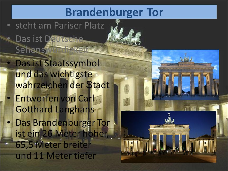 Brandenburger Tor steht am Pariser Platz