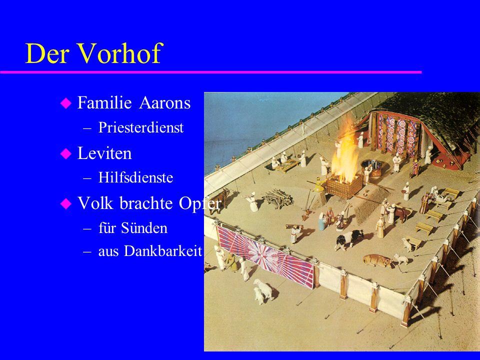 Der Vorhof Familie Aarons Leviten Volk brachte Opfer Priesterdienst