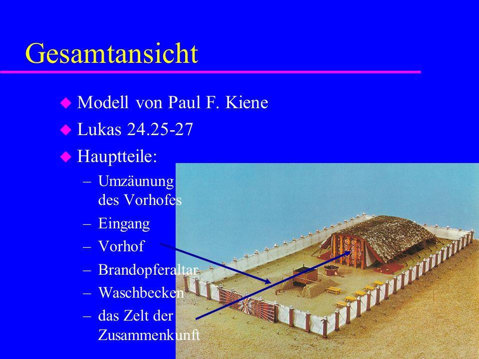 Gesamtansicht Modell von Paul F. Kiene Lukas 24.25-27 Hauptteile: