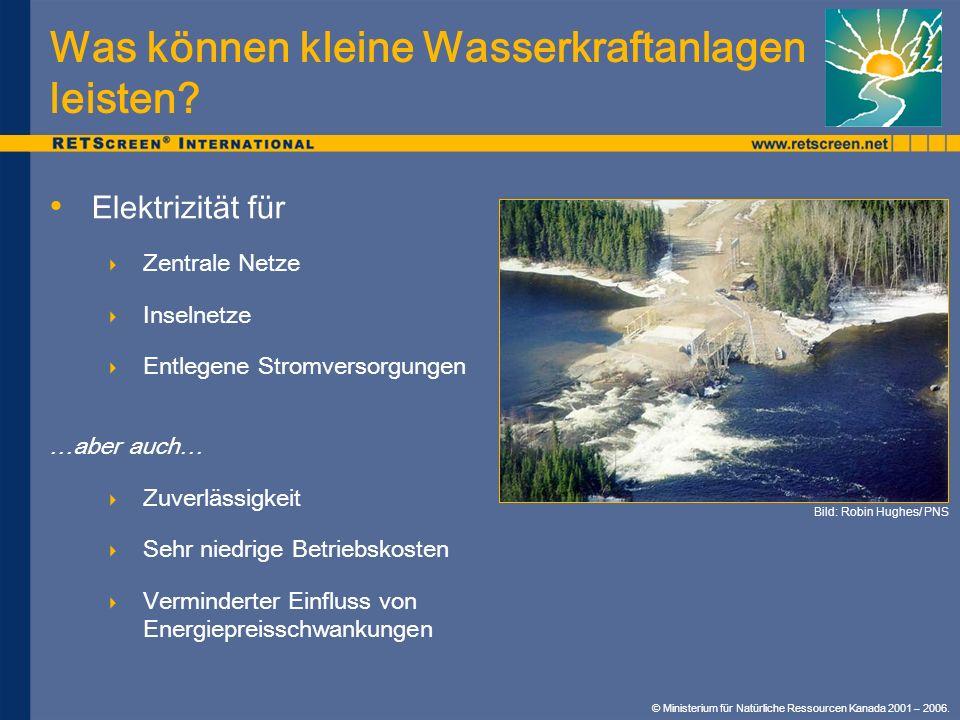 Was können kleine Wasserkraftanlagen leisten