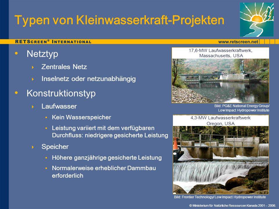Typen von Kleinwasserkraft-Projekten