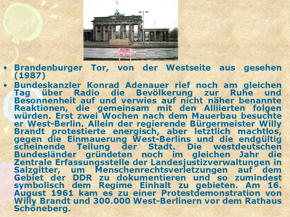 Brandenburger Tor, von der Westseite aus gesehen (1987)