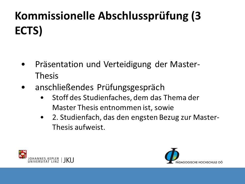 Kommissionelle Abschlussprüfung (3 ECTS)