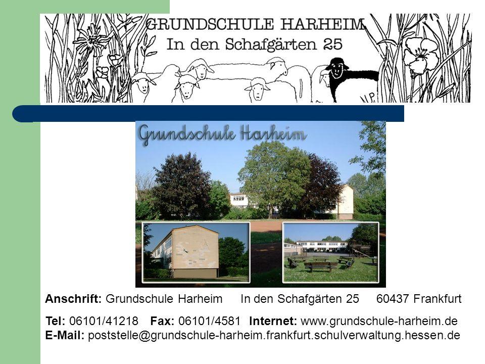 Anschrift: Grundschule Harheim In den Schafgärten 25 60437 Frankfurt