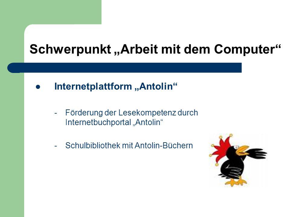 """Internetplattform """"Antolin"""