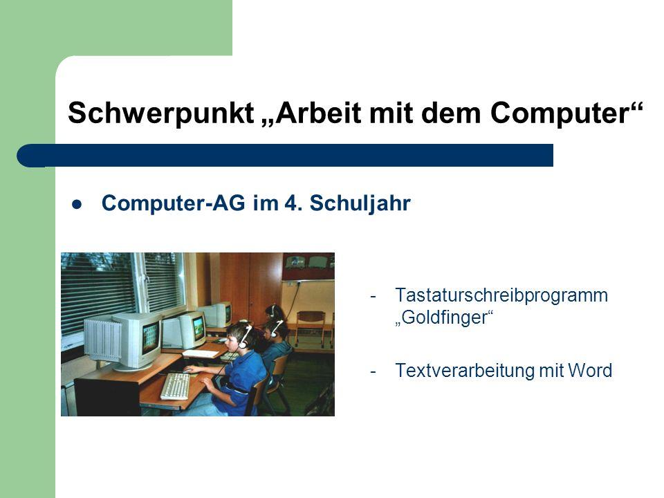 Computer-AG im 4. Schuljahr
