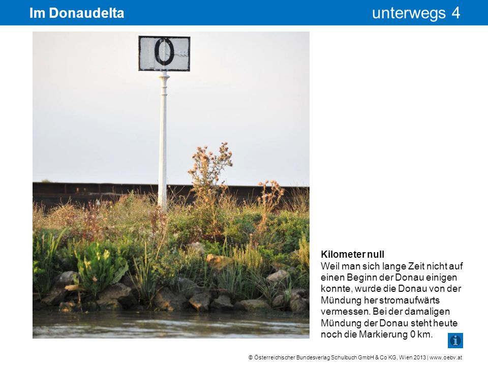 Im Donaudelta Kilometer null