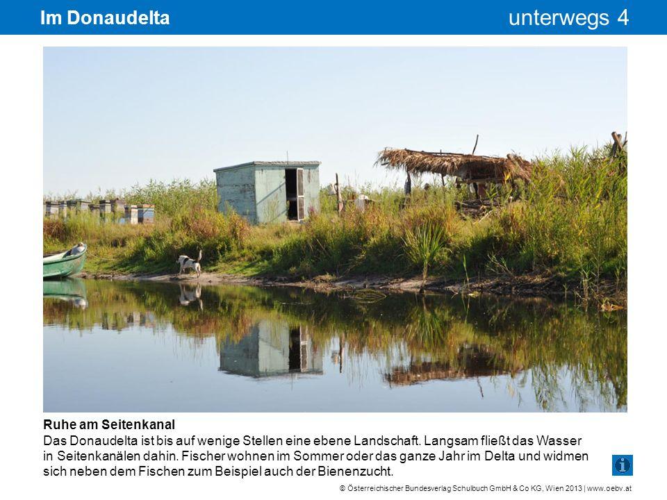 Im Donaudelta Ruhe am Seitenkanal