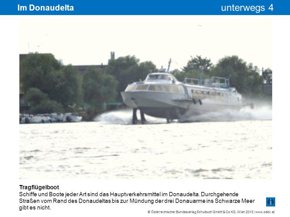 Im Donaudelta Tragflügelboot