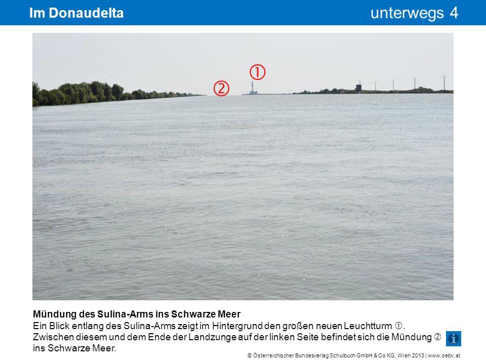   Im Donaudelta Mündung des Sulina-Arms ins Schwarze Meer
