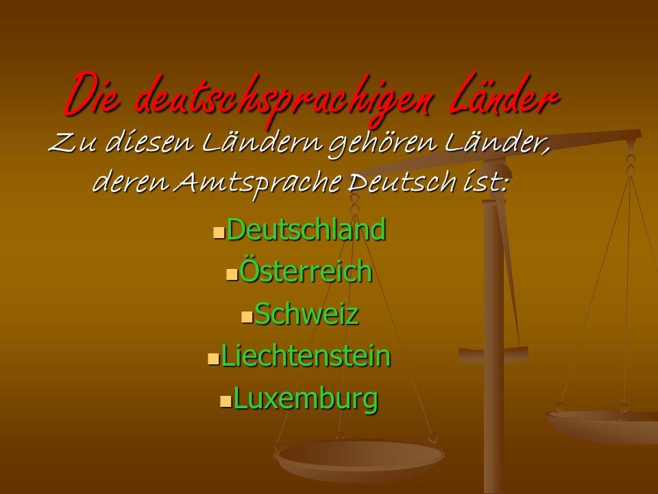 Die deutschsprachigen Länder