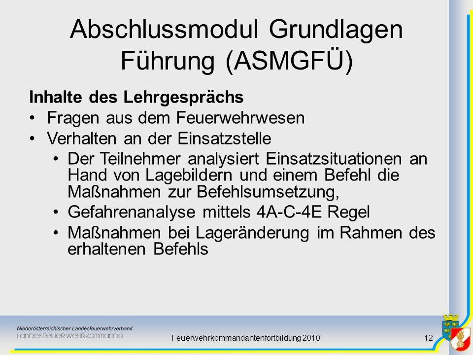 Abschlussmodul Grundlagen Führung (ASMGFÜ)