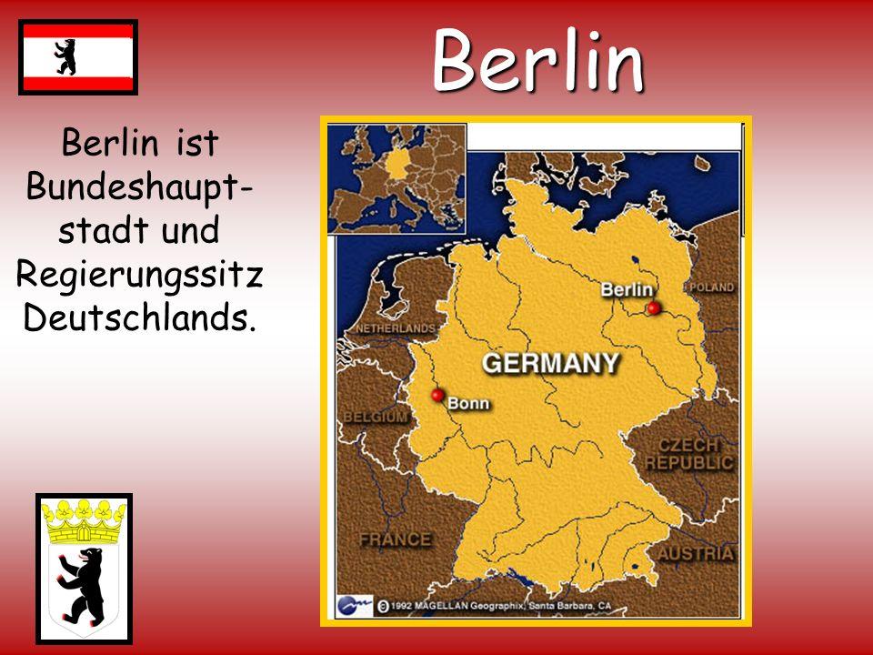 Berlin ist Bundeshaupt-stadt und Regierungssitz Deutschlands.