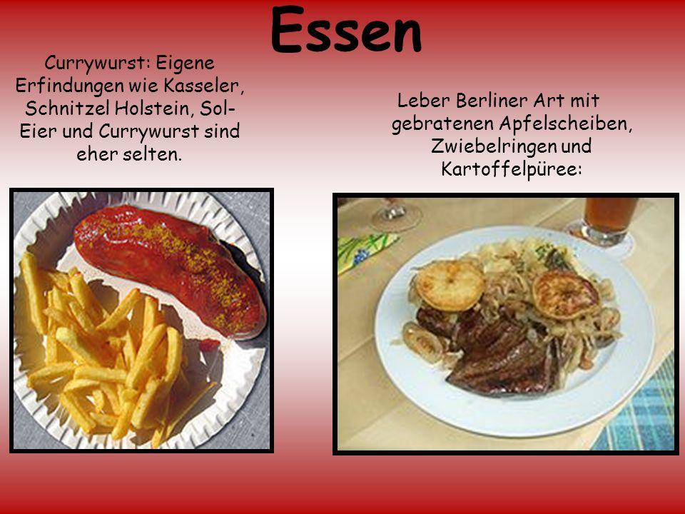 Essen Currywurst: Eigene Erfindungen wie Kasseler, Schnitzel Holstein, Sol-Eier und Currywurst sind eher selten.
