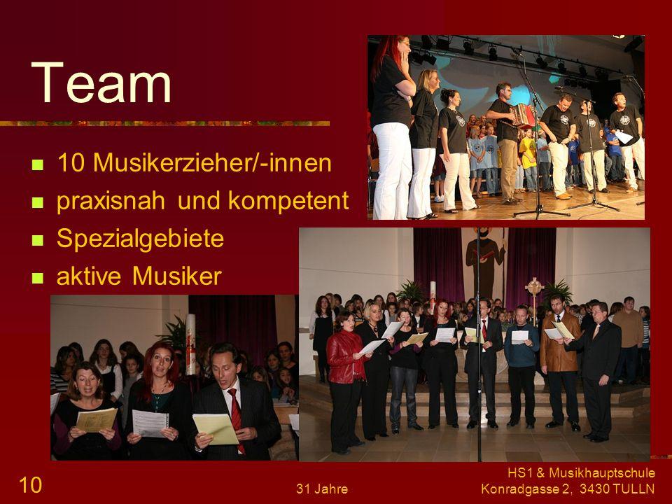 Team 10 Musikerzieher/-innen praxisnah und kompetent Spezialgebiete