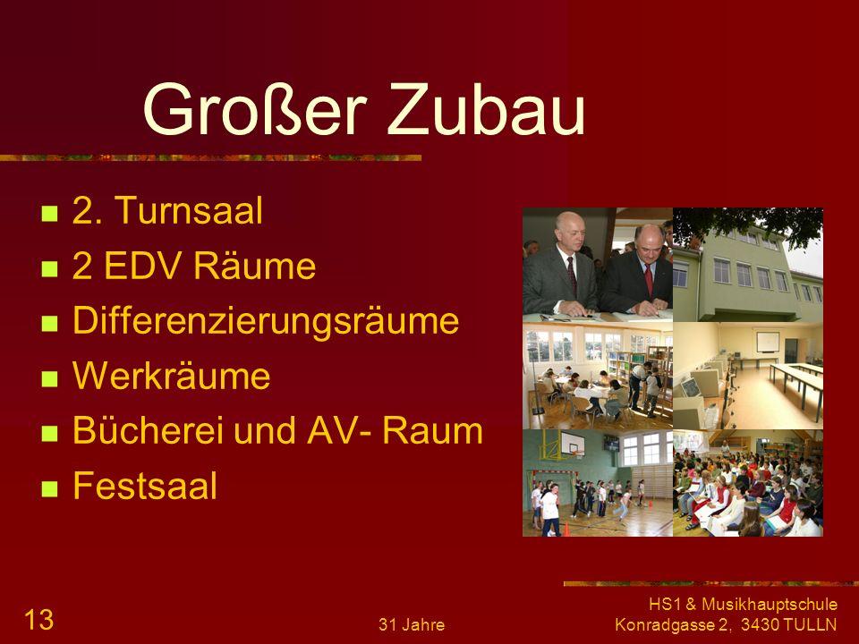 Großer Zubau 2. Turnsaal 2 EDV Räume Differenzierungsräume Werkräume