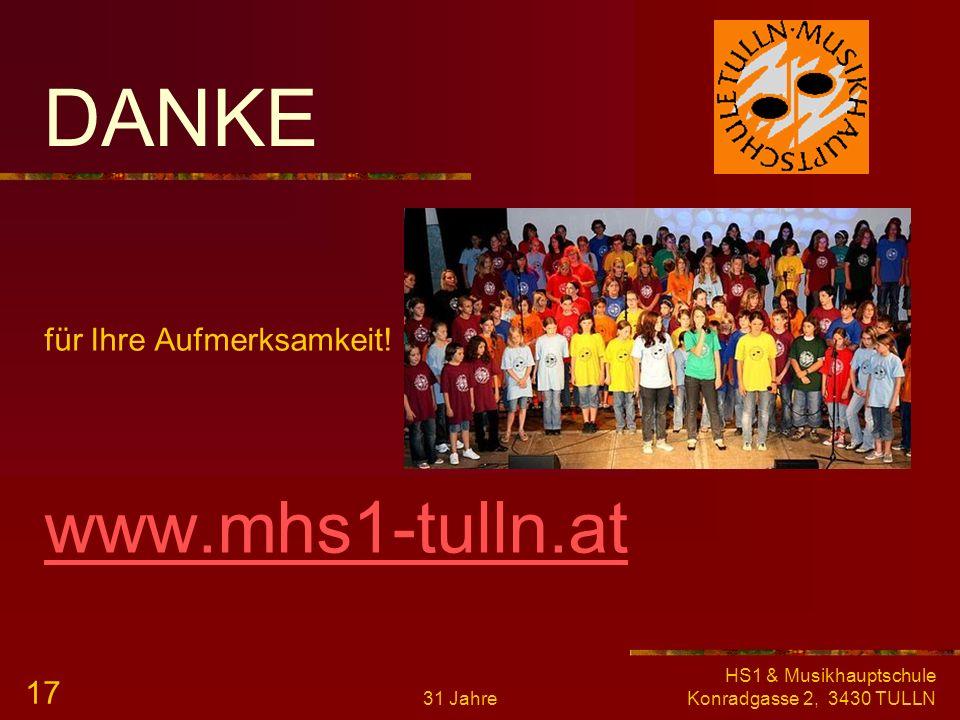 DANKE www.mhs1-tulln.at für Ihre Aufmerksamkeit!