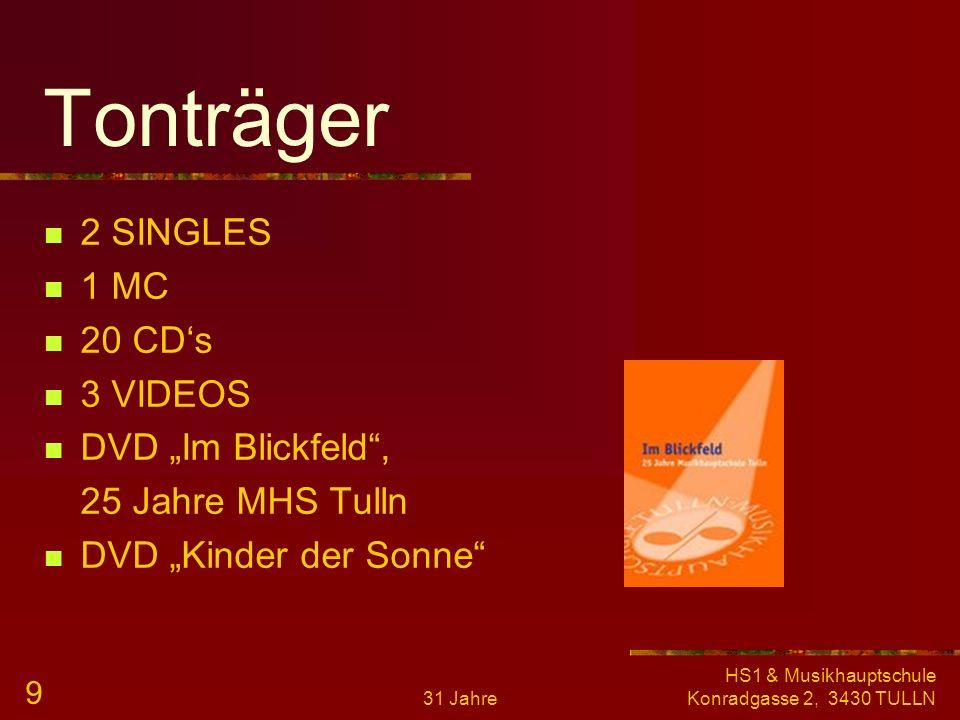 """Tonträger 2 SINGLES 1 MC 20 CD's 3 VIDEOS DVD """"Im Blickfeld ,"""