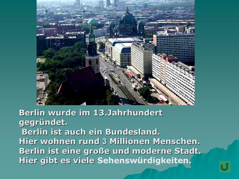 Berlin wurde im 13.Jahrhundert