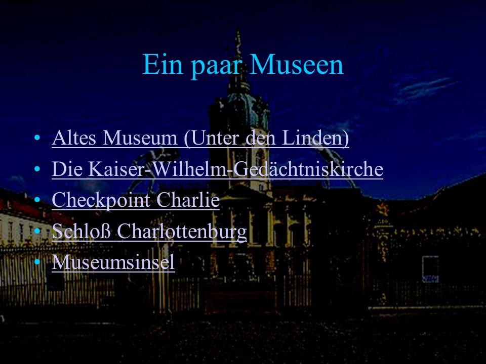 Ein paar Museen Altes Museum (Unter den Linden)