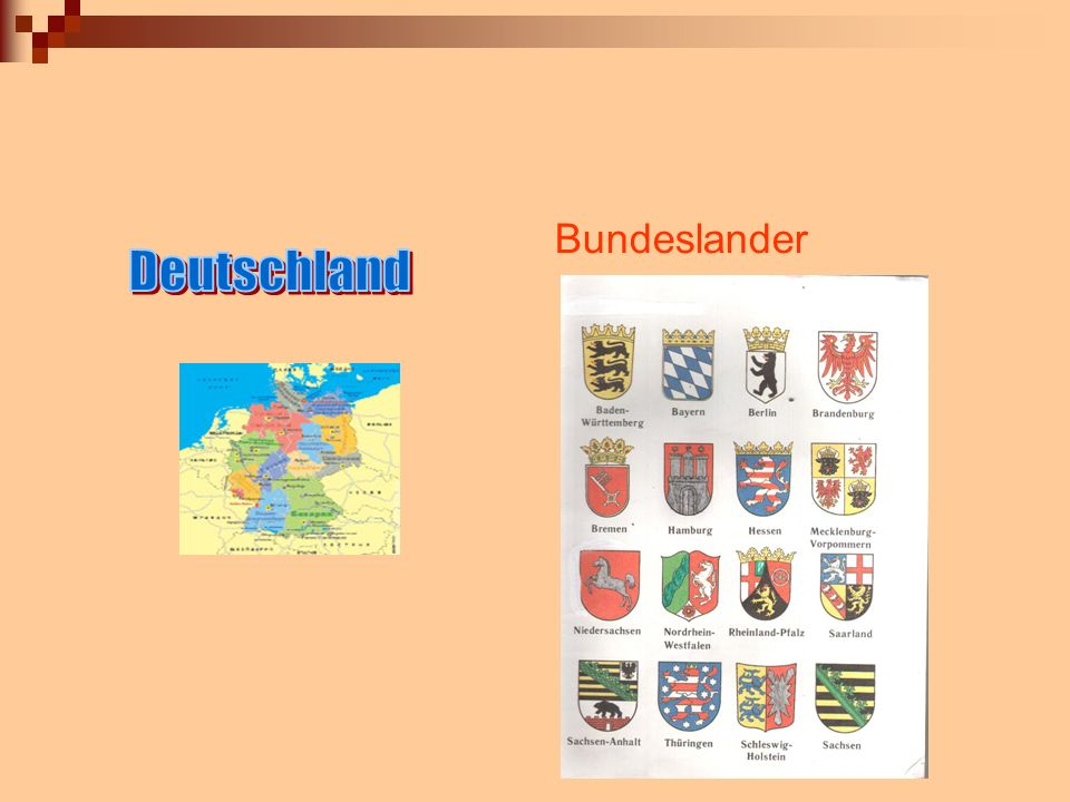 Bundeslander Deutschland