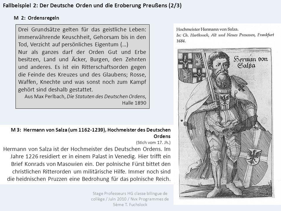 Fallbeispiel 2: Der Deutsche Orden und die Eroberung Preußens (2/3)
