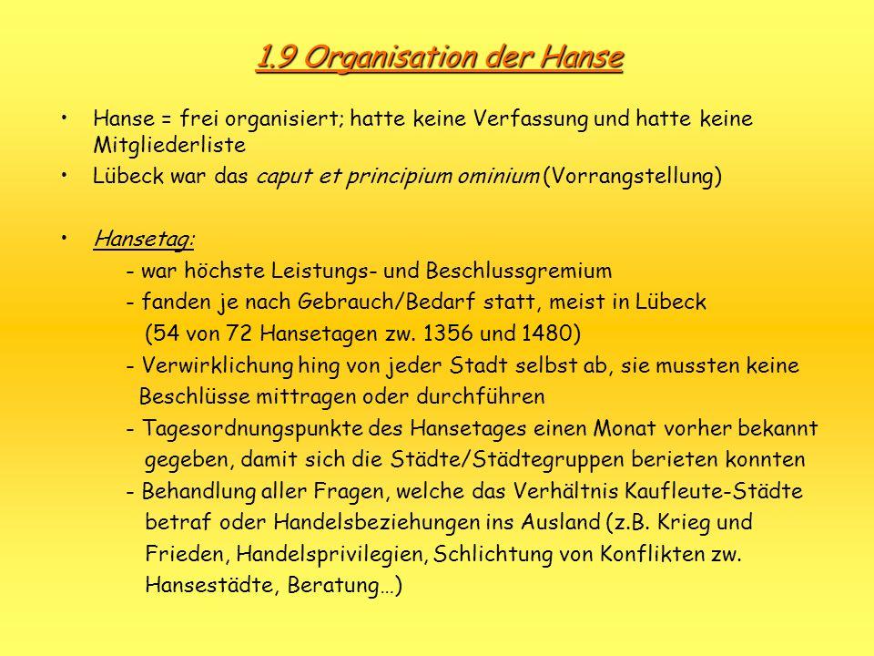 1.9 Organisation der Hanse